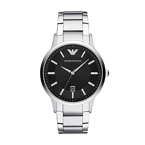 Emporio Armani Herren-Uhren schwarz/silber, AR2457